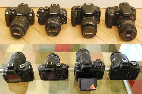 Entry-Level DSLR Battlemodo: Canon Rebel XSi vs. Sony Alpha a350 vs. Nikon D60 vs. Olympus E-420