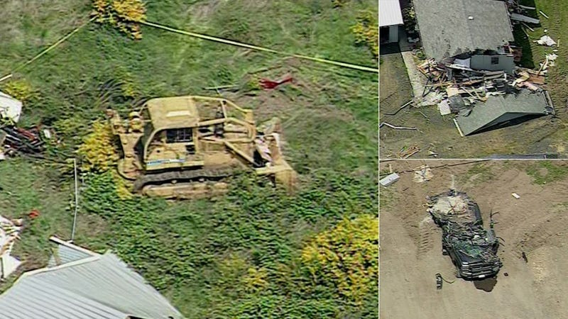 Some Guy Went on an Insanely Destructive Rampage on a Bulldozer