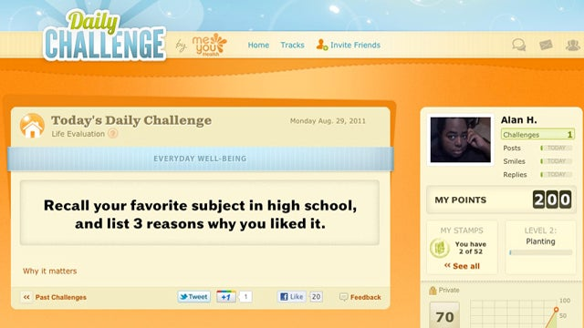 Daily Challenge Presses You To Do Something Good For Yourself Every Day