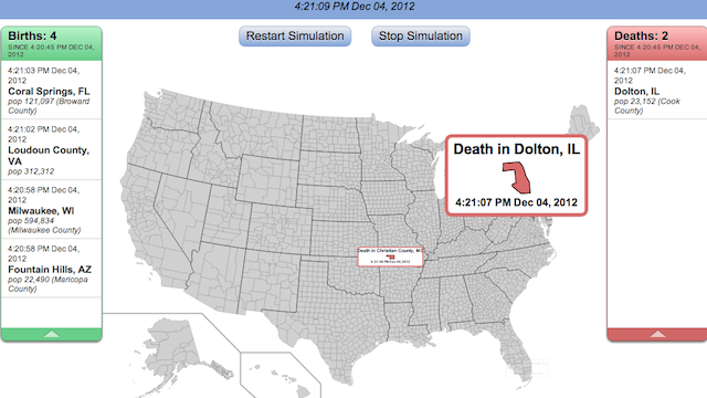Seeing Births and Deaths in Real Time in the US Is Morbidly Fascinating