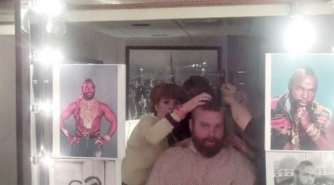 Backstage Footage of Zach Galifianakis Shaving His Head on Saturday Night Live
