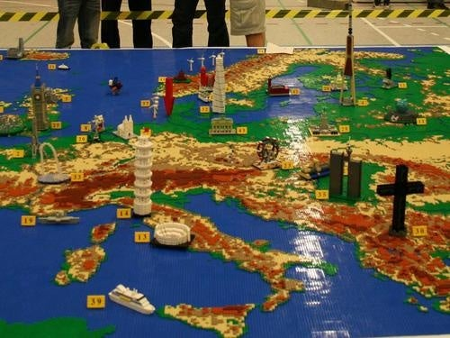 A Giant Lego Map of Europe