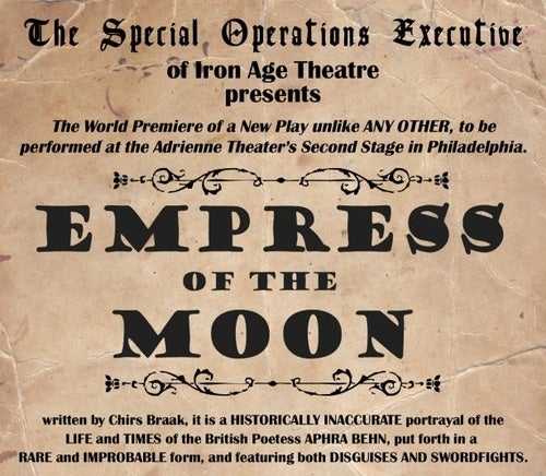 "Watch the world premiere of Chris Braak's play ""Empress of the Moon"" livestream tonight!"