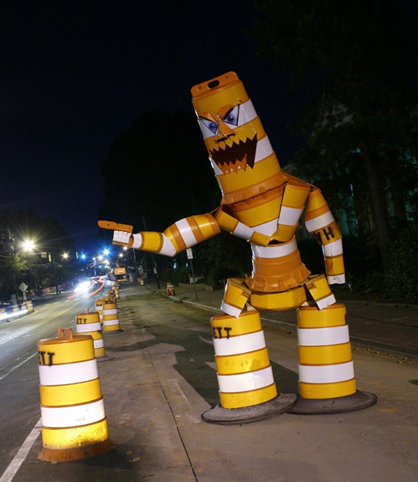 Traffic Barrel Monster Creator Arrested