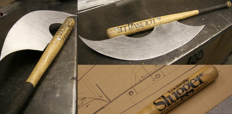 Behold the Louisville Decapitron, a baseball bat/battle axe made for zombie smashing