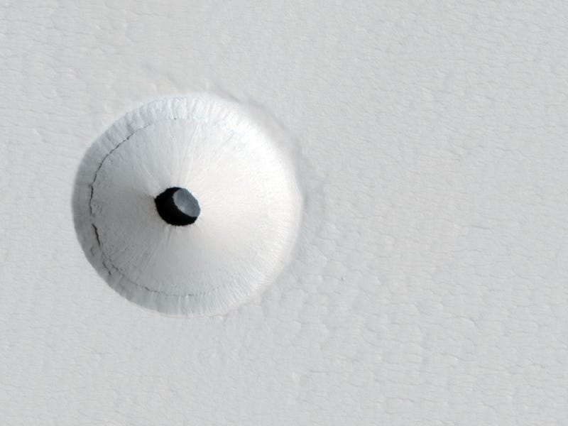 Is this hole in the ground our best shot at finding life on Mars?