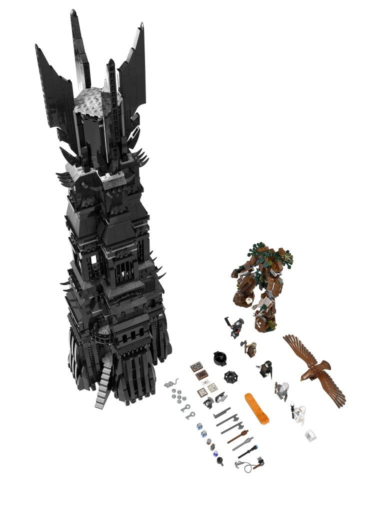 Ents, eagles and Christopher Lees abound in Lego's LotR Orthanc set
