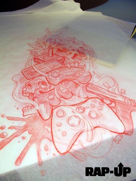 Gamer, Rapper Game's New Tattoo