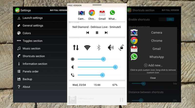 Quick Control Panel Adds a Customizable Control Center to Android