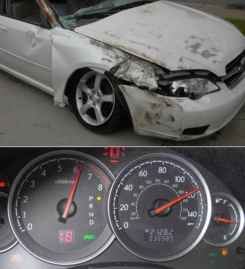 Sometimes The Photos Really DO Tell The Whole Story: Rolled Subaru Legacy