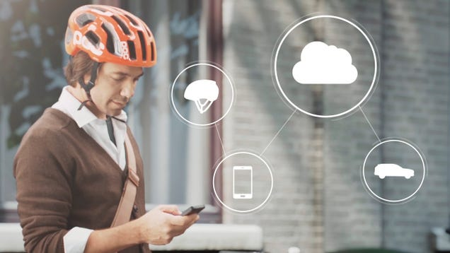 Volvo Created a Bike Helmet That Warns Drivers About Nearby Cyclists