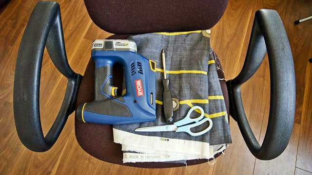 Re-Upholster Your Office Chairs with a Few Simple Tools