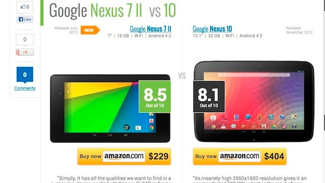 TabletRocket Compares Tablet Specs and Benchmarks Side by Side
