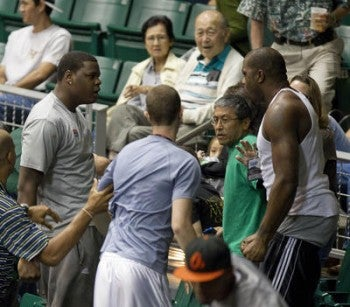 Renardo Sidney Is Trouble Off The Court, In Practice, And Now In The Stands Too