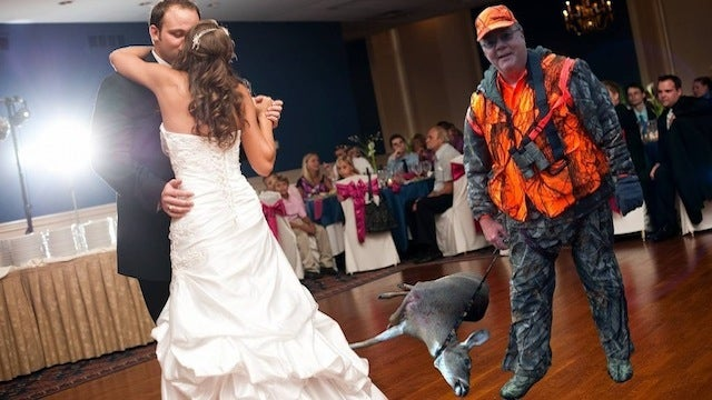 Hospitalized Dad Hilariously Included in Wedding Celebration Via Photoshop