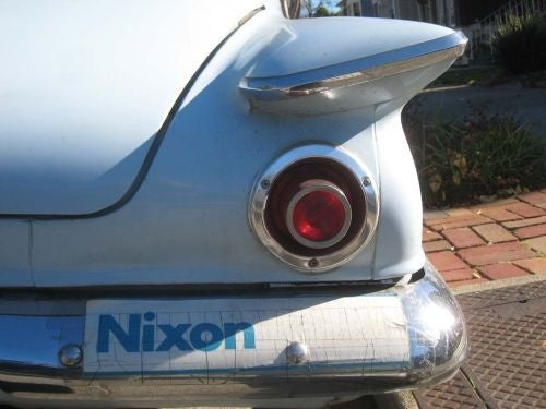 1962 Plymouth Valiant, with Bonus 1972 Nixon Bumper Sticker