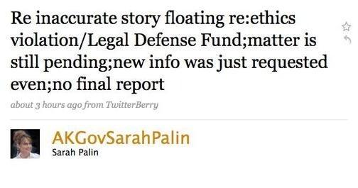 Scientologist's Legal Advice Burns Sarah Palin