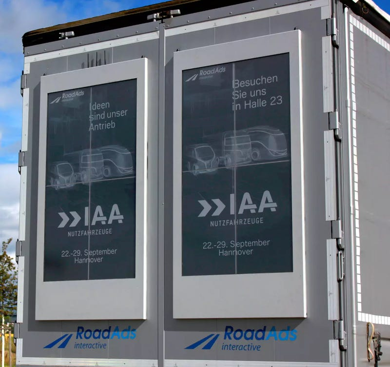 Giant E-Ink Screens Turn Trucks Into Dynamic Rolling Billboards