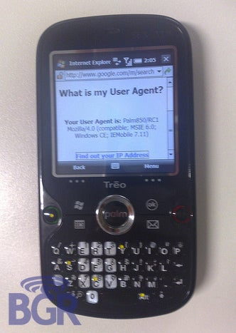 Leaked Spy Shot of the Palm Treo 850