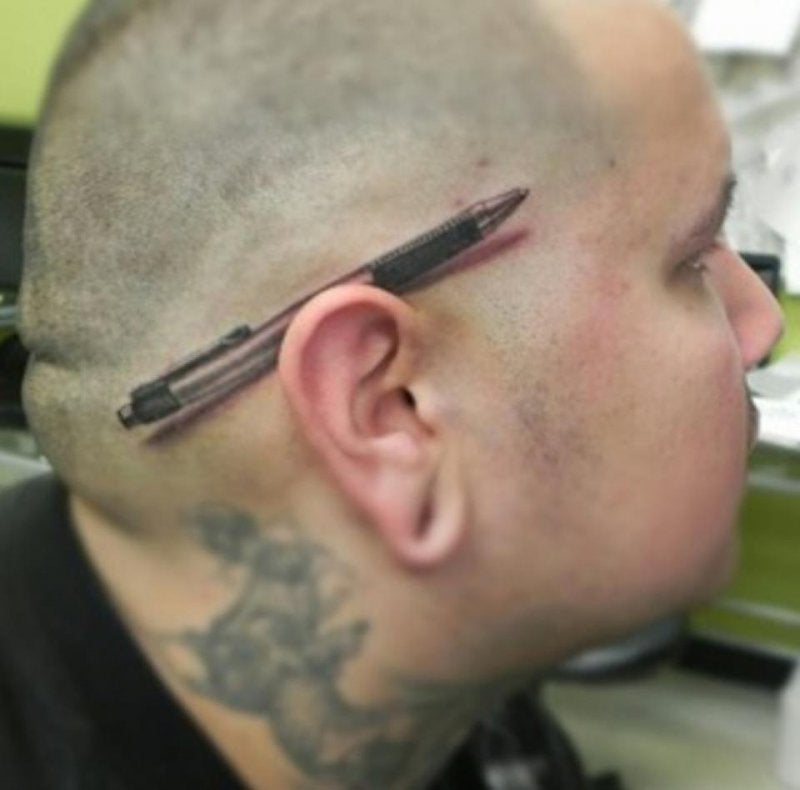 Oh wow, it took me a second to realize this pen is actually a tattoo
