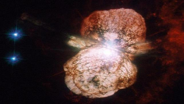 What's the minimum safe distance from a supernova?