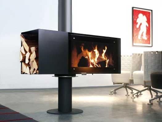The TURN Fireplace Spins Around to Keep You Warm