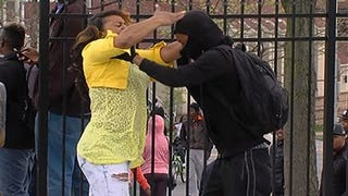 Baltimore Mom Smacks Son After Spotting Him on TV at Protests
