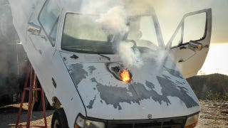 Here's What Lockheed Martin's New Laser Gun Does To An Old Ford Pickup
