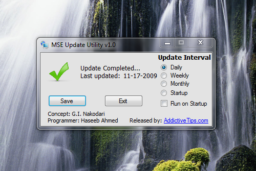 MSE Update Utility Keeps Security Up to Date Without Windows Update