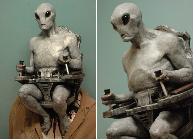 Give Up Now, This Alien Human Pilot Mask Already Won Halloween