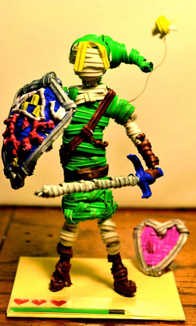 No Big Deal, Dude Just Made Link And Mario Out Of Twist-Ties