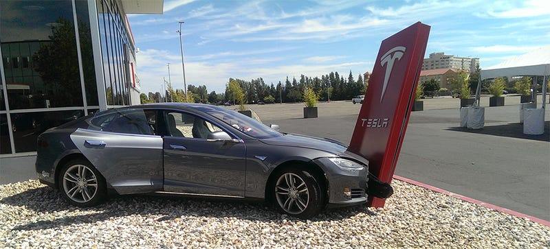 Weird Tesla Crash Was Result Of Wrong Pedal Press, Witness Says