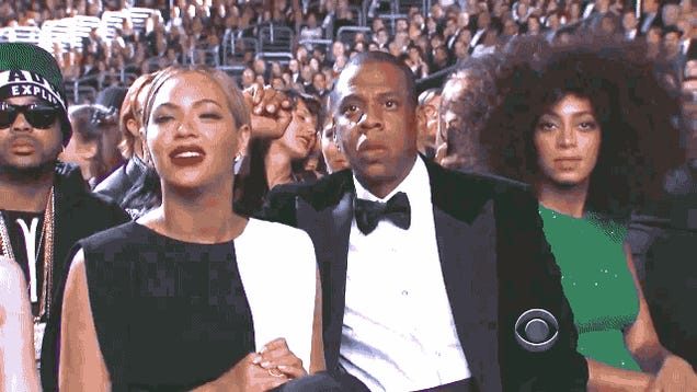 This Video of Jay-Z, Beyoncé and Solange Dancing Listlessly to Adam Levine Is How We All Felt About the Grammys