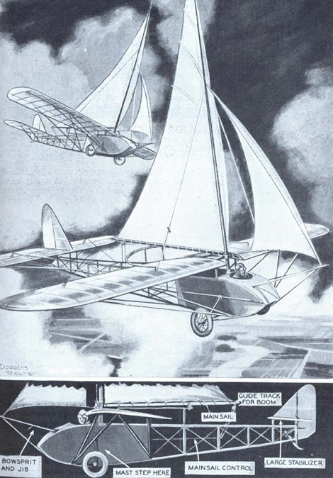 Who wants to go for a ride in a flying sailcar?