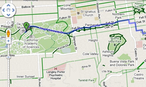 Google Maps Adds Bike-Friendly Directions and Trails