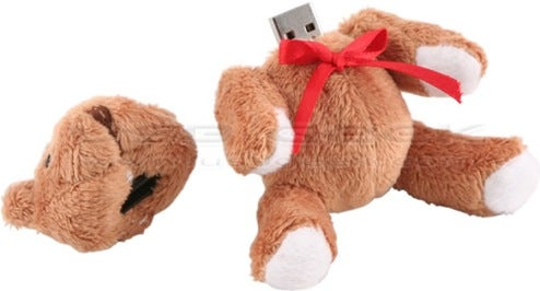 Headless Teddy Bear USB Drive Combines Kiddy Nightmares, Storage in One