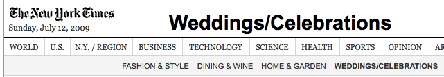 "The Secret Cultlike Rituals Behind NYT's Sunday ""Weddings and Celebrations"": Revealed!"
