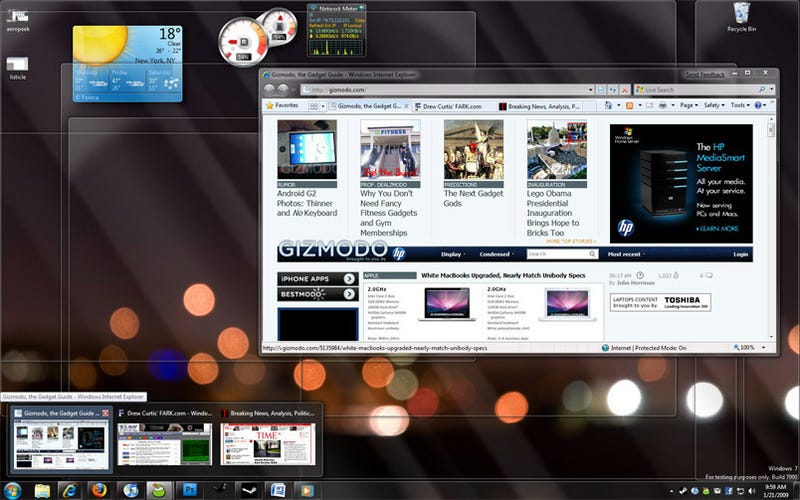 Giz Explains: Why the Windows 7 Taskbar Beats Mac OS X's Dock