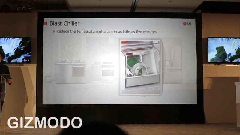 Binge Drinking, Revolutionized: LG's Blast Chiller Cools Cans in Under 5 Minutes
