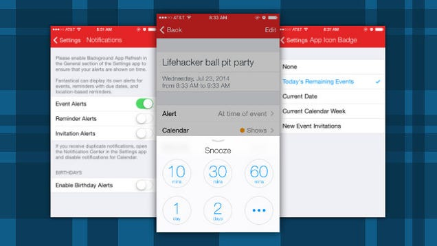 Fantastical for iOS Adds Snooze, Birthday Notifications, and More