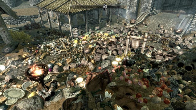 Someone Took All The Items From A Skyrim Town