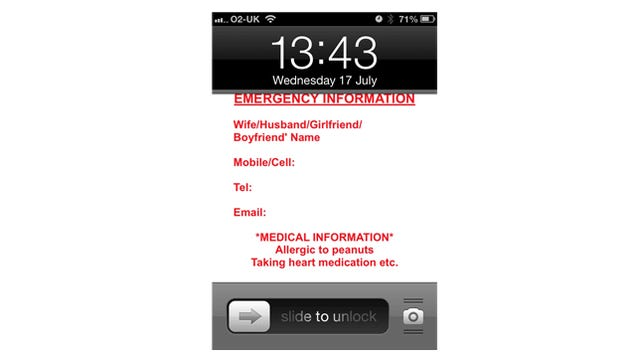 Add Emergency Contact Information to Your Phone's Lock Screen