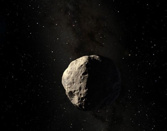 Could we deflect an incoming asteroid by bombarding it with paintballs?