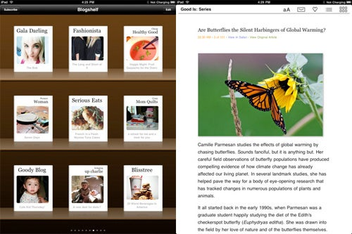 Blogshelf iPad App Makes Your RSS Feeds Look Like Books