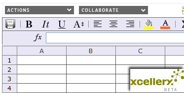 XCellery online collaborative spreadsheets