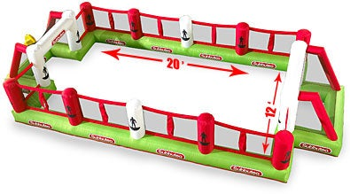 Subbuteo Giant Inflatable Pitch: Inflate Your Way to Soccer Fun