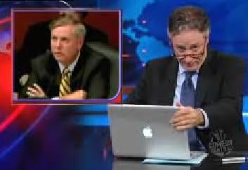 Lindsey Graham's Resemblance to an Old Lesbian Must Be Addressed, Says Jon Stewart