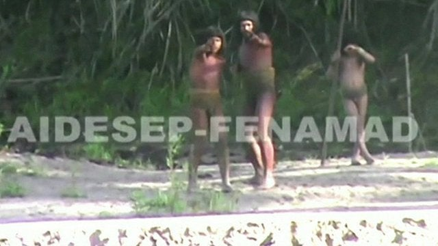 Isolated Peruvian tribe attempts to make contact, asks for food