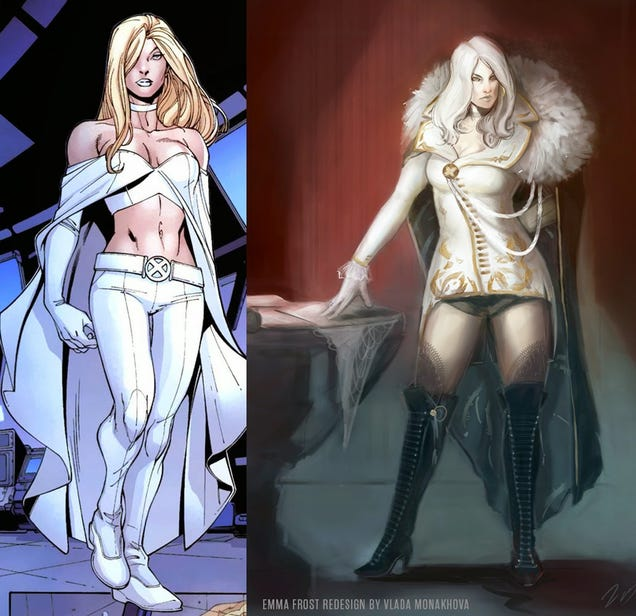 Emma Snow x Men Emma Frost X-men Redesign by