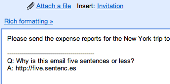 Email Writing Values: Concision, Concision, Concision